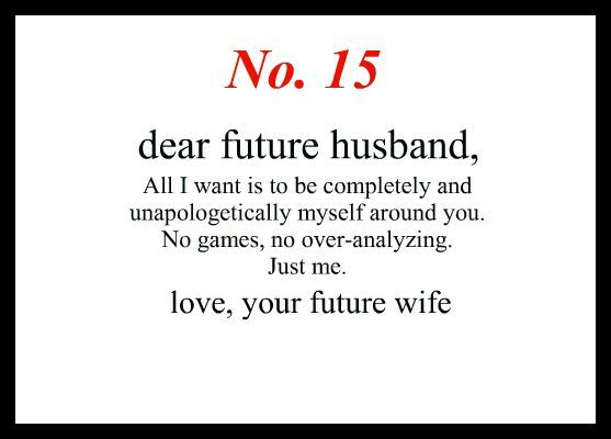 dear future wife quotes - photo #17
