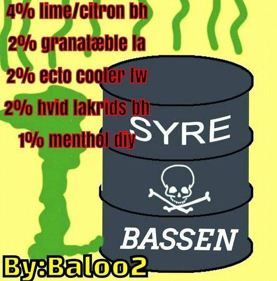 <b>Syre bassen</b><br /><b>Baloo2</b> har tilladt at vi må bruge hans opskrifter.