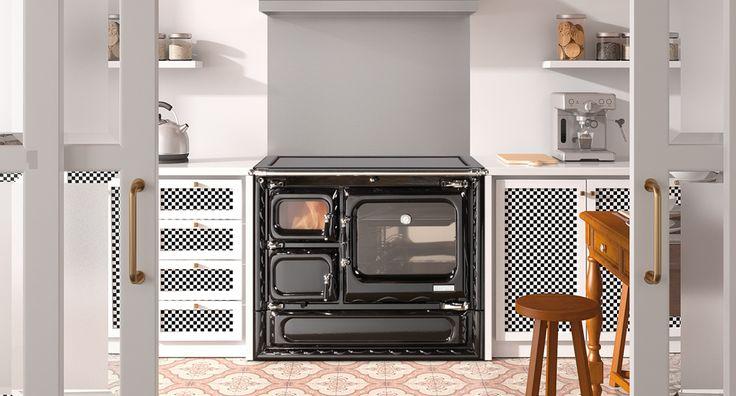Hergom - Estufas, hogares y chimeneas de hierro fundido para leña y gas. Europa América - Deva 100 N
