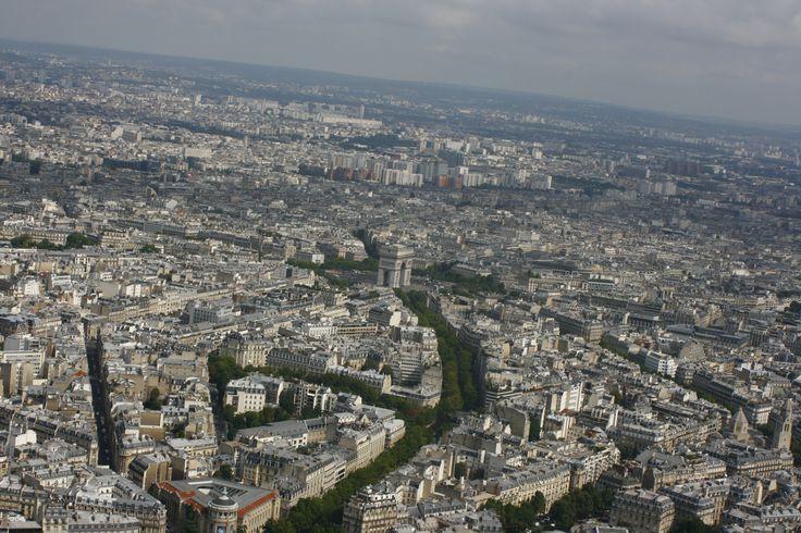 výhled z Eiffelovky