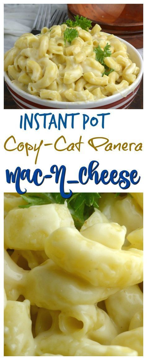 Copy Cat Panera Mac N Cheese In the Instant Pot - Adventures of a Nurse