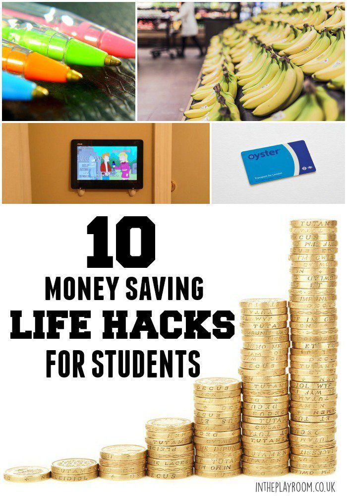 Cash Saving Life Hacks for College students