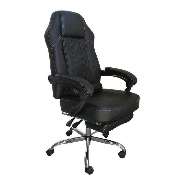Blair PU Leather Reclining Office Chair u0026 Footrest - Black  sc 1 st  Pinterest & Best 25+ Reclining office chair ideas on Pinterest   Recliner ... islam-shia.org