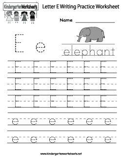 letter e writing practice worksheet language arts pinterest writing practice and worksheets. Black Bedroom Furniture Sets. Home Design Ideas