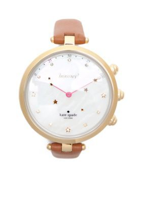 b0733d8ec6b Kate Spade New York Women Stainless Steel Gold-Tone Holland Hybrid  Smartwatch - Brown - One Size