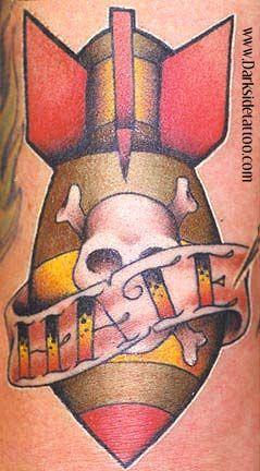 Bomb/Skull by Darkside tattoo