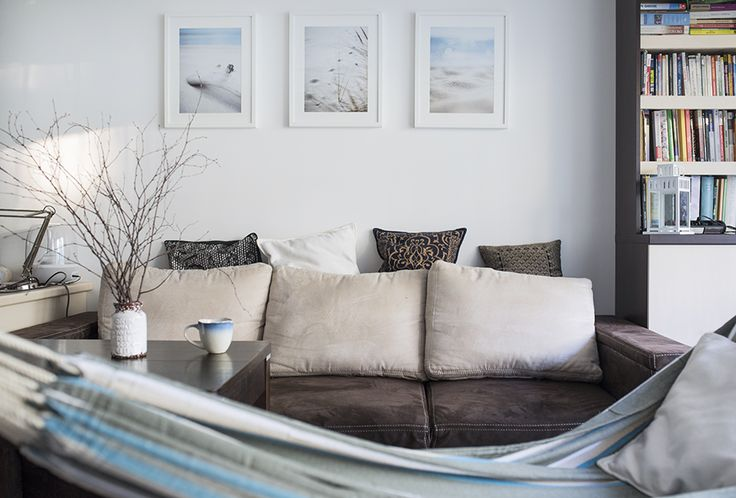 www.elwirak.com Sea, beach, pictures, interiors, home, decor, hammock, hamak, nadmorskie, klimaty, Beach accessories on the wall