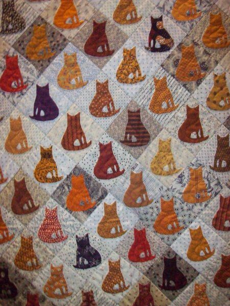 Awesome kitty quilt <3