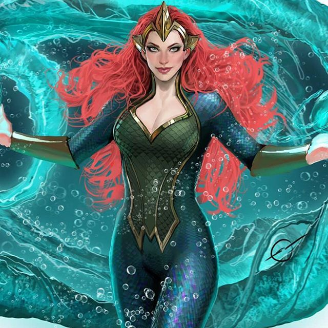 "6,924 Synes godt om, 7 kommentarer – DC Comics (@dccomicsunited) på Instagram: ""Mera by Stjepan Šejić"" - Visit to grab an amazing super hero shirt now on"