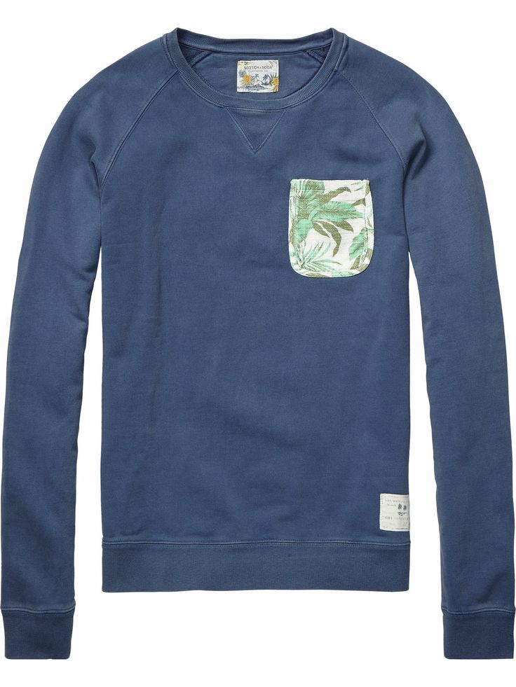sweater with chest pocket | sweat | Men Clothing at Scotch & Soda
