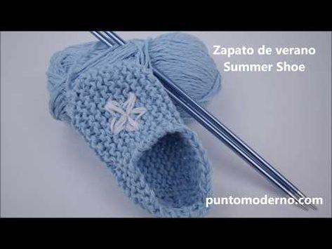 Zapato de verano para bebé - YouTube