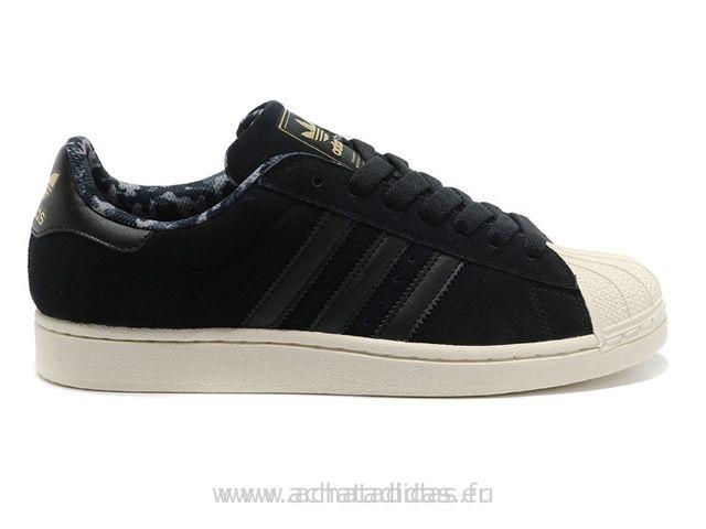 Adidas Superstar II Camo Noir Or