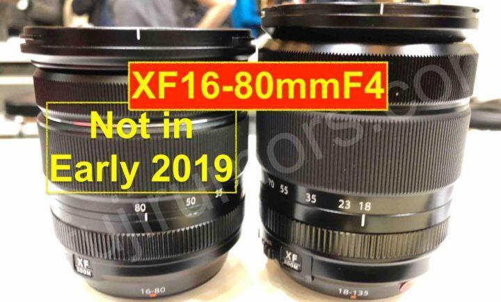 Fujinon XF16-80mm F4 will NOT Come in Early 2019 Fujinon