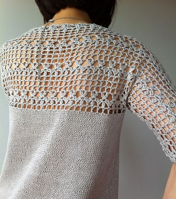 Ravelry: Julia - floral lace tunic (crochet+knit) by Vicky Chan