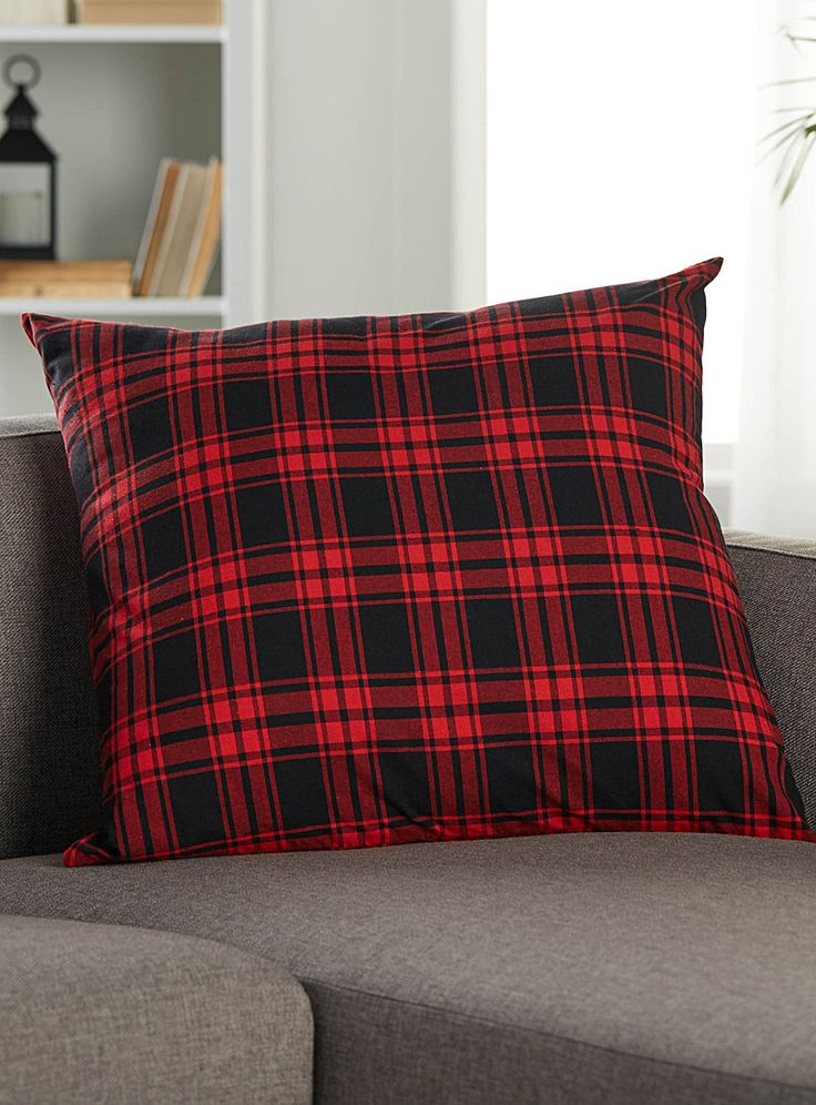 Large cottage tartan cushion 60 x 60 cm | Simons Maison | Shop Printed Pattern Cushions Online in Canada | Simons