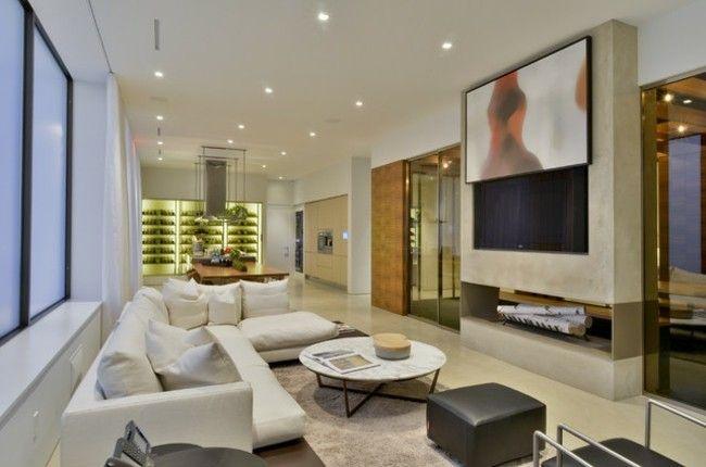 Clevere Raumgestaltung Einrichten Fernseher Verstecken In 2020 Fernseher Verstecken Moderne Wohnzimmerideen Tv Eingebaut