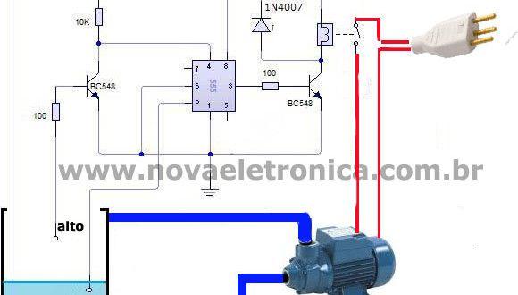 Circuito de Controle Automático de Bomba D'água
