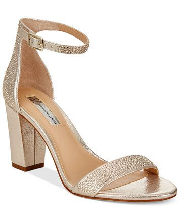 INC International Concepts Kivah Block-Heel Dress Sandals, Only at Macy's | macys.com