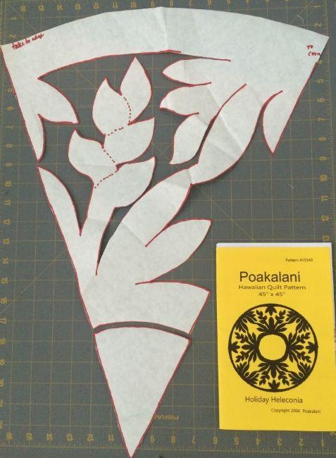 Hawaiian Quilt Pattern - Hooray for Rain