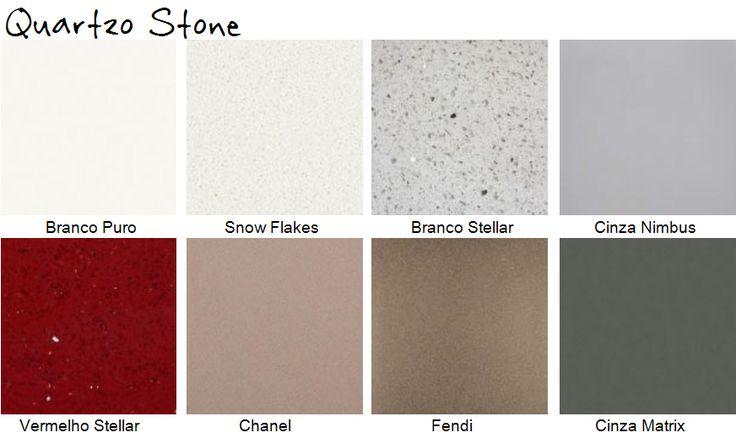 quartzo stone cores assim eu gosto