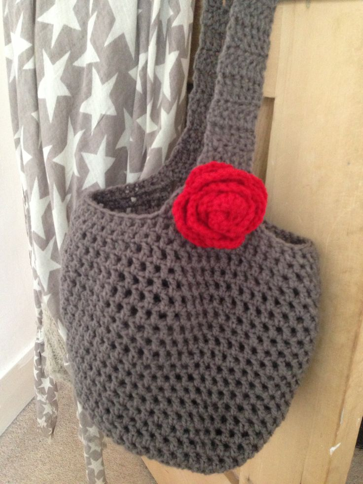 Crochet lunch bag, Im pleased with it :) x