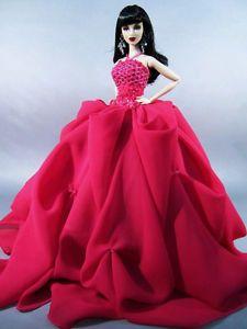 Poppy Parker 2013 | Model-Evening-Gown-Poppy-Parker-Dress-Silkstone-Barbie-Fashion-Royalty ...