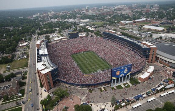 USA record crowd watches Manchester United vs Real Madrid in Michigan