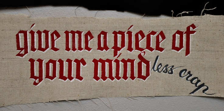 Calligraphy, Christa Puch Nielsen