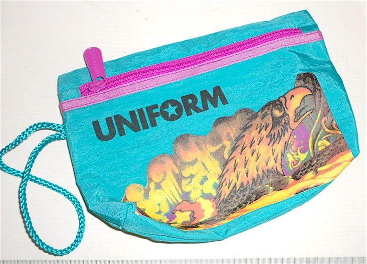 UNIFORM 80s italy - hawks pencil wallet school - astuccio scuola Paninaro aquila