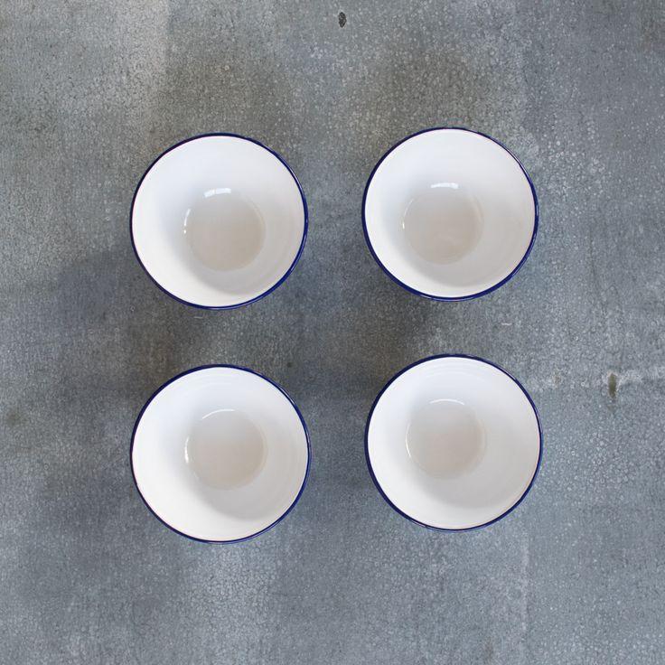 Falcon enamel cereal bowl, set of four