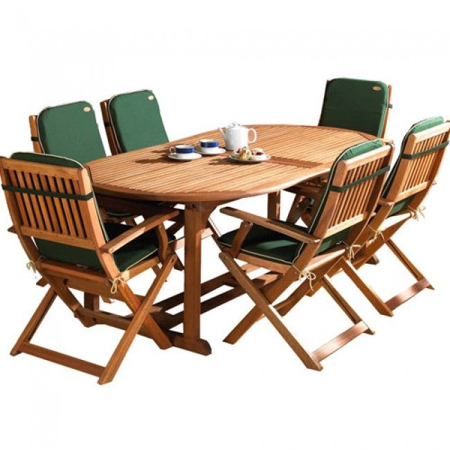 Buy A Robert Dyas Fsc Country Hardwood Extending 6 Seater Dining Set Online At Unbeatable Prices By Uk S Top Retail W Dining Set Outdoor Furniture Sets Hardwood