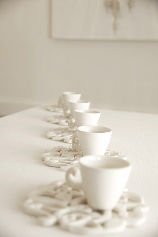 Beautiful Coffee cups with calligraphy saucer and handle #coffee #coffeecups #ceramic #calligrapy #homeaccessories www.cazabrand.com