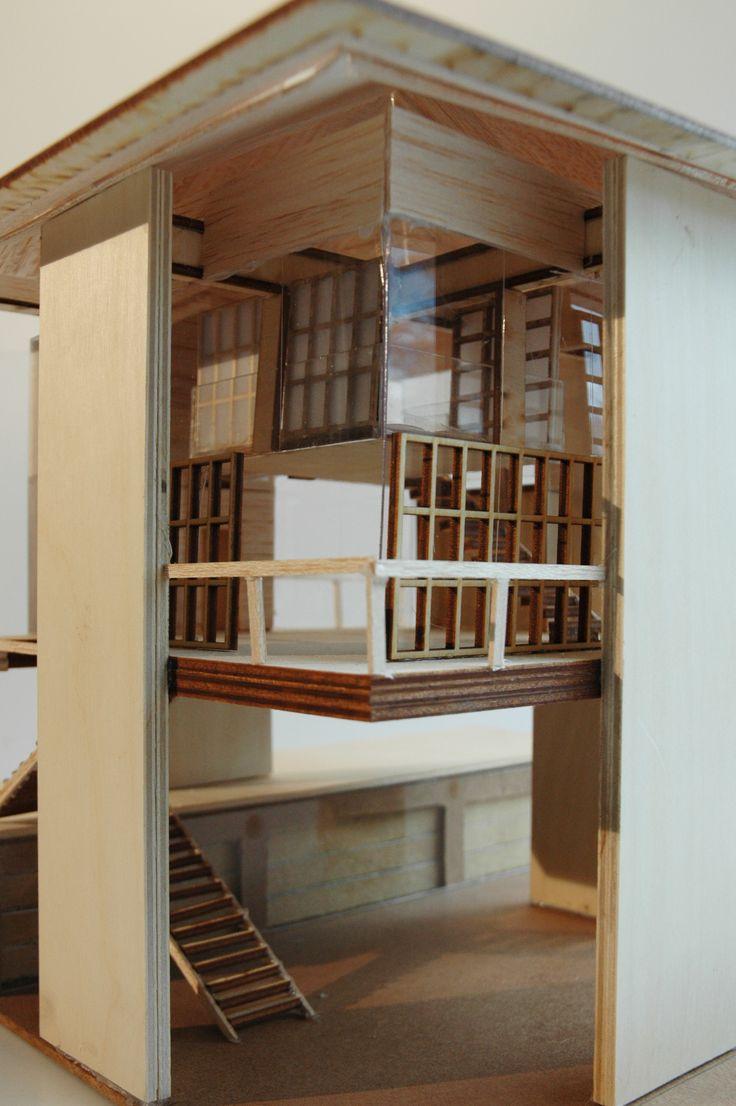Maquette, Sky House avec extension, Projet d'école UQAM