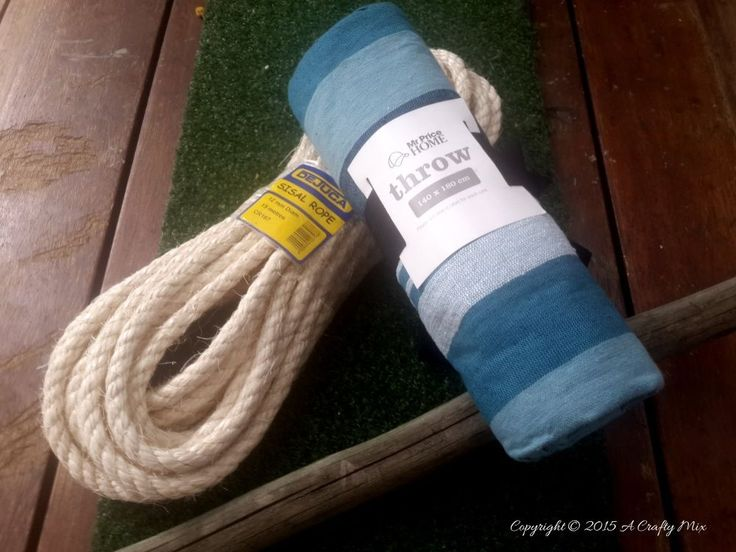 Mom buys a throw blanket and rope for this surprising backyard update