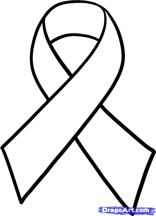 cancer ribbon colors | How to Draw a Cancer Ribbon, Breast Cancer Ribbon, Step by Step, Stuff ...