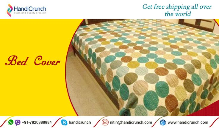 Give enthustic look to your home with handmade bed cove shop @ Handicrunch