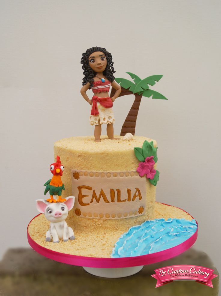 Moana Cake All hand modelled from sugar. By www.facebook.com/doncastercustomcakery