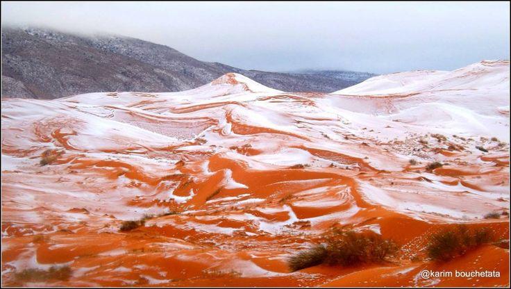 è uno dei posti più caldi al mondo, con una temperatura media di oltre 30 gradi, ma la città diAin Sefra in Algeria, in mezzo al