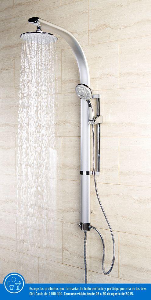 Al tomar un baño no hay nada más perfecto que una regadera que proporciona mayor alcance.