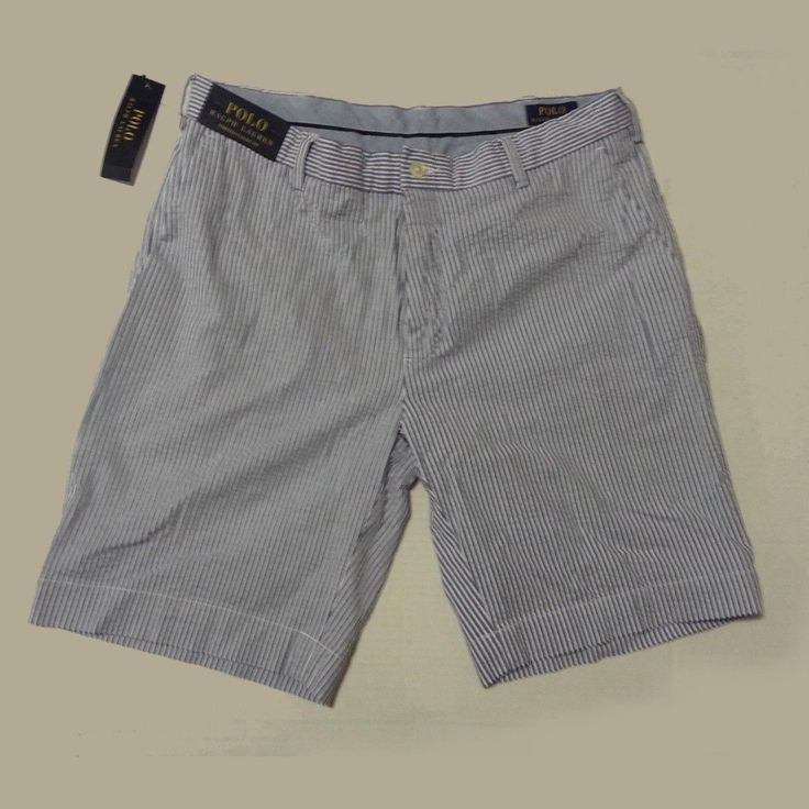 #ebay POLO Ralph Lauren Classic Fit  Stretch Men shorts Size 33 M BLACKWAT Blue White RalphLauren withing our EBAY store at  http://stores.ebay.com/esquirestore