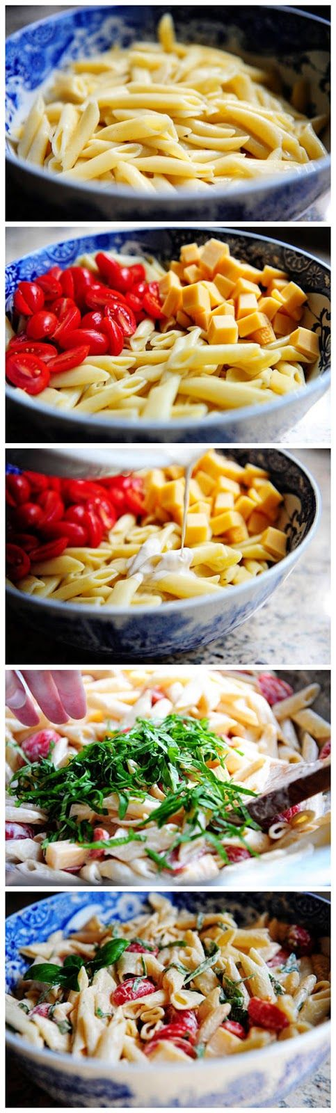 Spicy Pasta Salad with Smoked Gouda, Tomatoes, and Basil | Salads ...