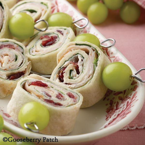 ham and cream cheese tortilla roll ups