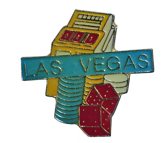 """vintage LAS VEGAS Slot Machine enamel pin CASINO gambling hat tie lapel cloisonne nv Nevada by VintageTrafficUSA  11.00 USD  A vintage Las Vegas pin used but excellent condition. Measures: approx 1"""" Add inspiration to your handbag tie jacket backpack hat or wall. Have some individuality = some flair! -------------------------------------------- SECOND ITEM SHIPS FREE IN USA!!! LOW SHIPPING OUTSIDE USA!! VISIT MY STORE FOR MORE ITEMS!!! http://ift.tt/1PTGYrG FOLLOW ME ON FACEBOOK FOR SALE…"""