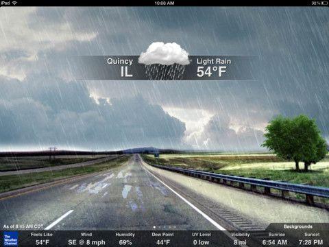 The Weather Channel iPad App Tops 10 MillionDownloads