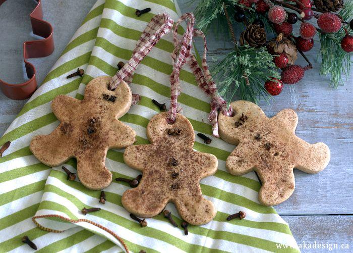 Gingerbread Salt Dough Ornaments | Seasonal Project - http://akadesign.ca/gingerbread-salt-dough-ornaments/