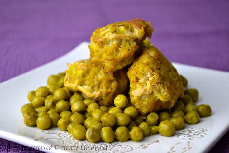 Polpette di carne e piselli al curry Bimby • Ricette Bimby