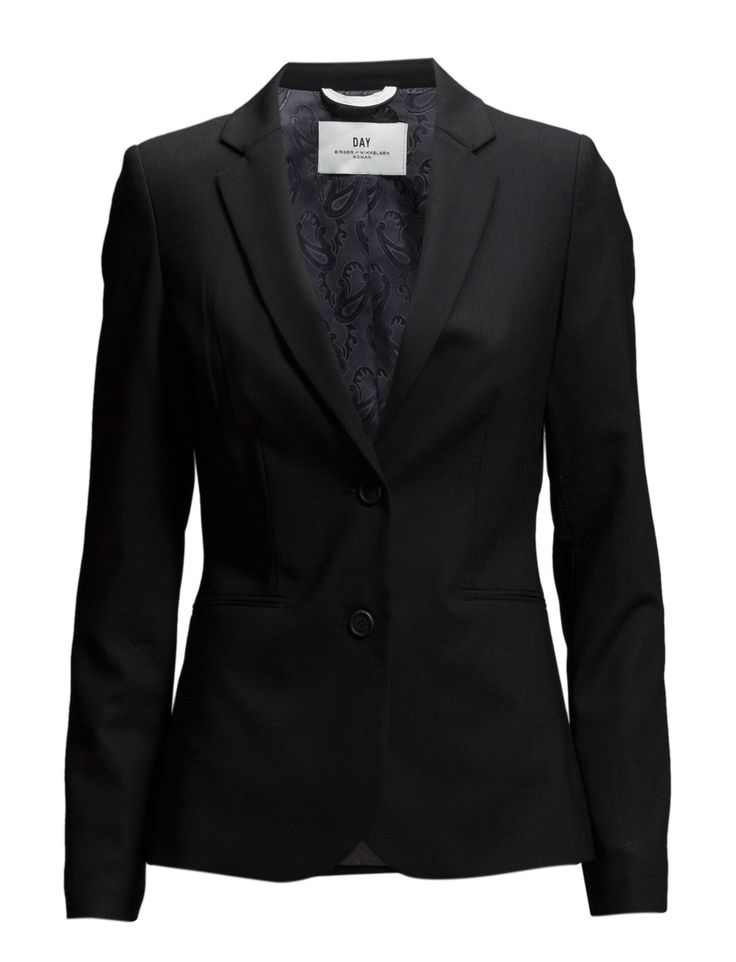 DAY - Day Classic Suit Back vent Double button closure Paspel pockets Slight stretch Blazer styling Button cuffs Fitted silhouette Notched lapel Elegant and feminine Office wear Sophisticated