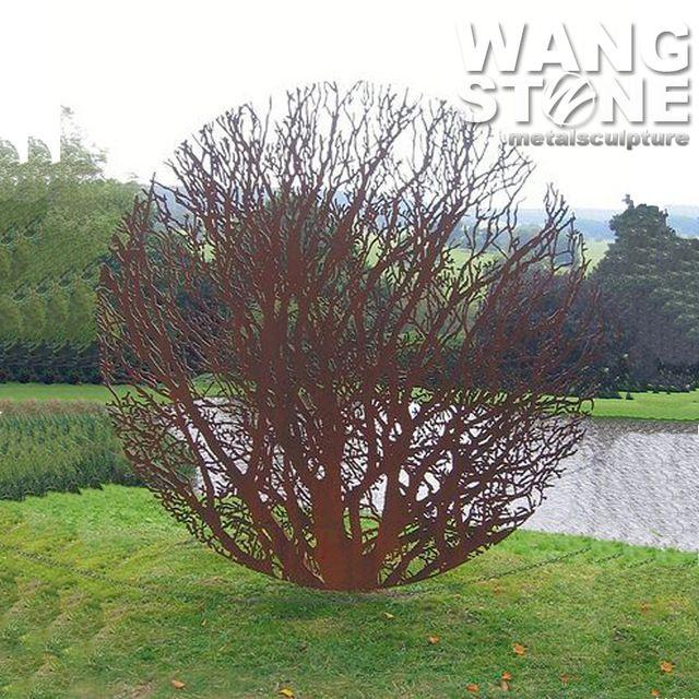 Acero corten jardín arte árbol esculturas de metal oxidado-en Esculturas de Regalos y Artesanía en m.spanish.alibaba.com.