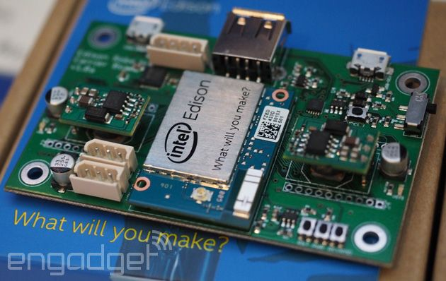 Intel Edison is a computer the size of an sdcard #computer #miniaturization