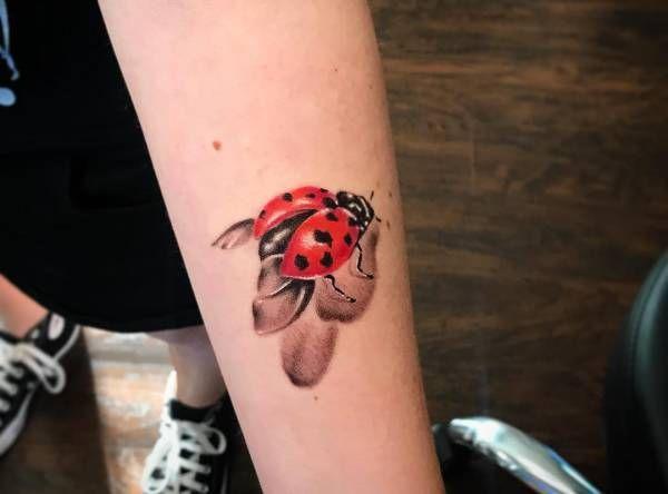 Tatuaż Biedronka Znaczenie Historia 19 Zdjęć Pomysł Na